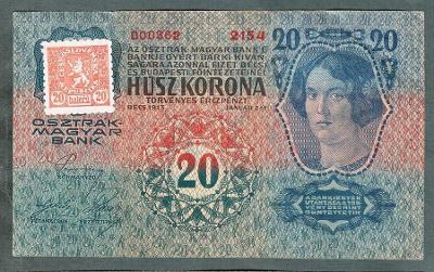 20 korun 1913 KOLEK serie 2154 stav 1
