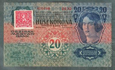 20 korun 1913 KOLEK serie 2232 stav 1-