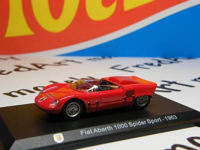 I - ABARTH  1000 Spider Sport 1963 - HACHETTE 1:43