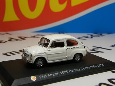 I - ABARTH  1000 Berlina Corsa 64 1964  - HACHETTE 1:43