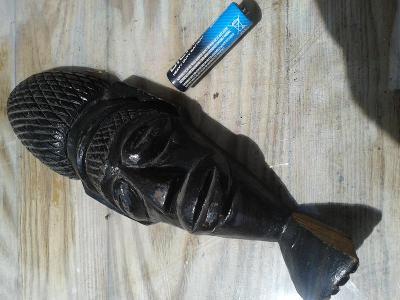 PLASTIKA -dřevo, primitivní maska originál