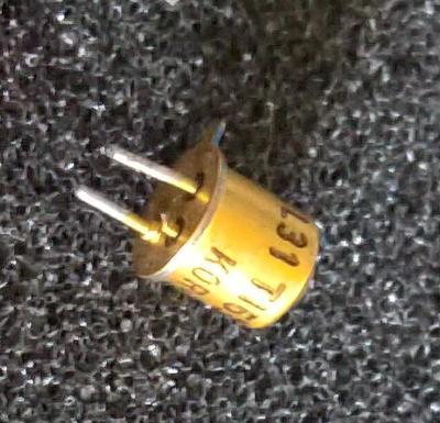 Sada 20kusů, retro-Infra LED TIL31, zlacená, testováno