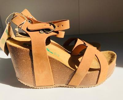 Nové pohodlné sandály, vel. 38, Bio Natura kůžeNové pohodlné sandály,