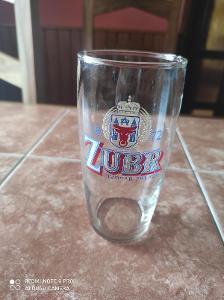 Stará pivní sklenice Zubr Pivovar Přerov k6