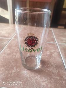 Stará pivní sklenice pivovar  Litovel K6 0,5l