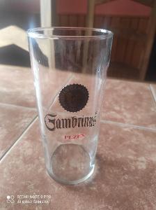 Stará pivní sklenice pivovar Gambrinus Plzeň K6 0,5l