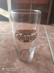 Stará pivní sklenice Pivovar Zlatovar Opava K6 0,5l