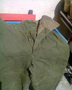 Vojenské zimní asi tankové  kalhoty ČSLA 50 léta na jehličí a mlok