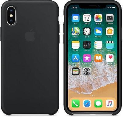 Pouzdro Apple Silicone Case iPhone XS Max černé