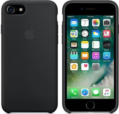 Pouzdro Apple Silicone Case iPhone SE 2020 černé