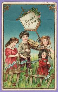 pohlednice přání svátek děti