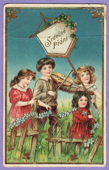 pohlednice přání svátek děti - Pohlednice