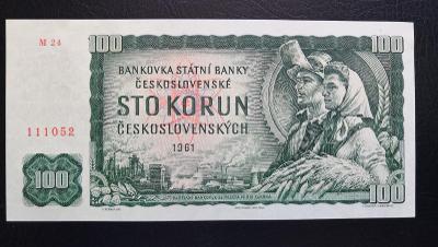 100 korun 1961,vzacna serie M, UNC !!