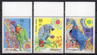 Somálsko-Papoušci 1999**  Michel 746-748 / 12 €