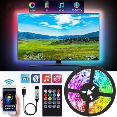 LED páska 1m - USB - ovládání přes Bluetooth nebo dálk. ovladačem