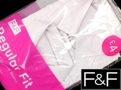 NOVÁ! 2x dívčí, bílá košile F&F s krátkým rukávkem, vel.140
