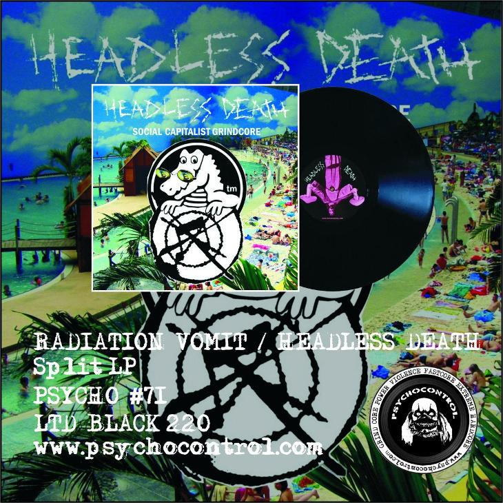 HEADLESS DEATH / RADIATION VOMIT split LP - Hudba
