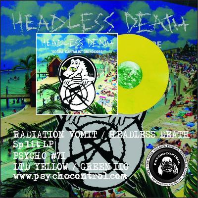 HEADLESS DEATH / RADIATION VOMIT split LP ZLUTY vinyl