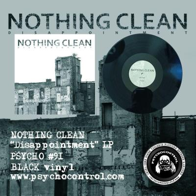 NOTHING CLEAN Disappointment - LP CERNY vinyl