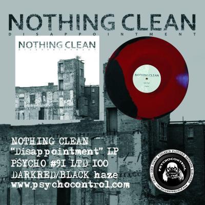NOTHING CLEAN Disappointment - LP TMAVE CERVENA / CERNY vinyl HAZE