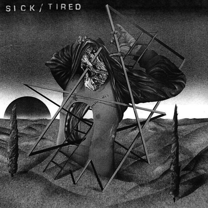 "SICK/TIRED / TRIAC split 12"" LP NAHODNY mix barev - Hudba"