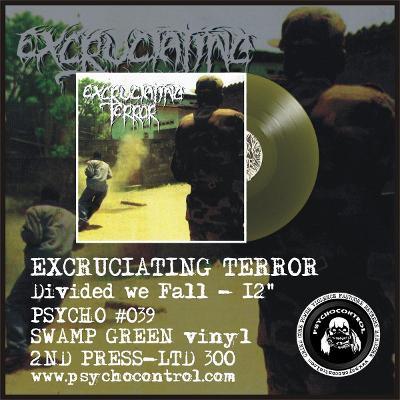 EXCRUCIATING TERROR - Divided we Fall - 12 LP SWAMP GREEN vinyl