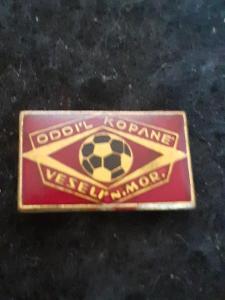 Odznak  Veselí na Moravě oddíl kopané