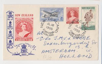 STARÁ OBÁLKA DOPIS FDC KOLONIE NEW ZEALAND 1955