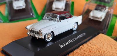 kovový kabriolet ( 9 ) ŠKODA FELICIA ( 1962 )  1:43 + DÁREK za 100 KČ