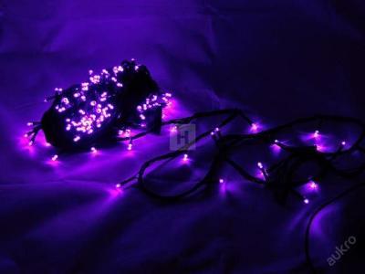 Vánoční osvětlení 200 LED řetěz 18,4 M PURPLE