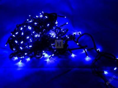 Vánoční osvětlení 200 LED řetěz 18,4 M MODRE