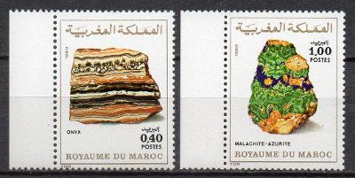 Maroko-Minerály 1981**  Mi.948-949 / 4 €