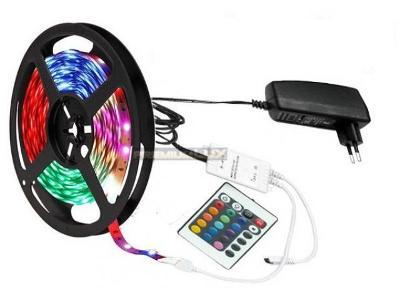 Pásek LED barvy + RGB led 5m ovladac + zdroj !!!!!!!!!!!!!!!!!!!!!!!!!