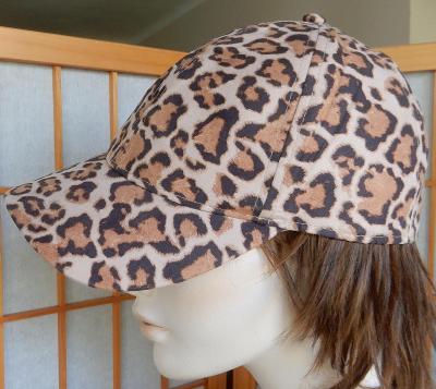 Čepice s kšiltem H&M leopardí kšiltovka velikost L/58