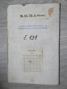 ŘÍČANY A OKOLÍ - stará mapa na plátně.