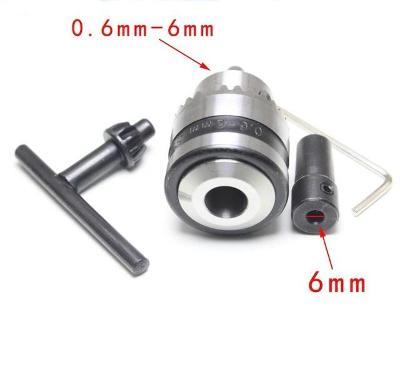 Mini sklíčidlo s redukcí+klíč+imbus 0,6-6mm-hřídel  6mm - 3811g.