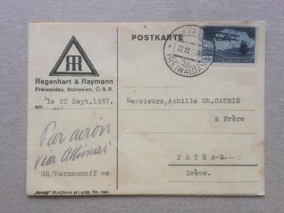 ČSR Jeseník - Řecko letecké 1937