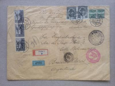 ČSR Praha - Argentina letecké 1937
