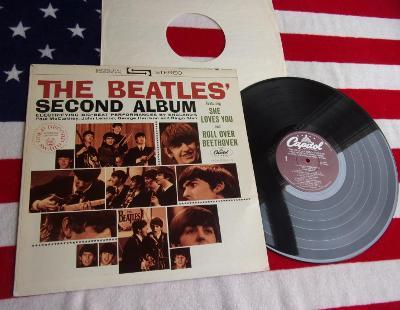 🔴 LP: THE BEATLES - THE BEATLES' SECOND ALBUM, Mint! purple USA ℗1964