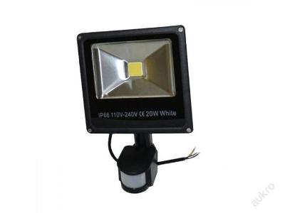 LED Reflektor 20w SLIM halogen s čidlem pohybu PIR