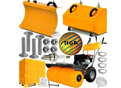 Zametací stroj Stiga SWS 800 G + PŁUG + TANK FULL XL Akce!
