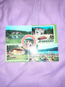 Pohlednice Jevansko,prošlé poštou