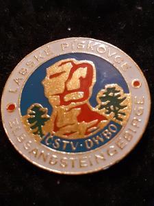 Odznak LABSKÉ PÍSKOVCE  - ELBSTANDSTEINGEBIGE - turistika