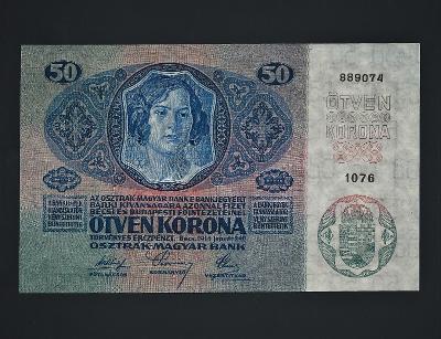 RU 50 K 1914 top stav UNC bez přetisku, série 1076 Rakousko - Uhersko
