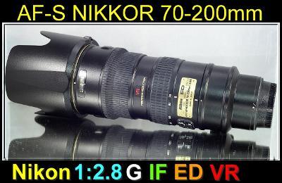 💥 NIKON AF-S NIKKOR 70-200mm F/2.8 G ED VR **1:2.8 FX Tele-ZOOM*TOP👍