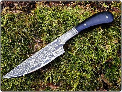 221/ Damaškový lovecky nůž. Rucni vyroba