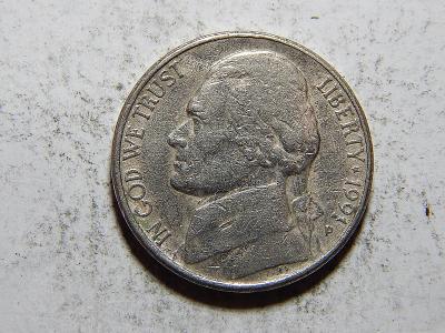 USA 5 Cents 1991P VF č20919