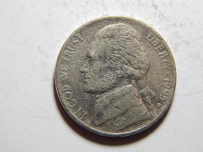 USA 5 Cents 1995D F č21169