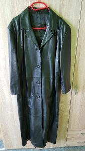 Dámský kožený dlouhý kabát zn. Kara