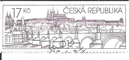 Pražský hrad 2010,  raž. zn. sm. s raz. FDC, NL. k.č. 631.